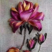 Роза красотка из шелка   подборка фото (19)