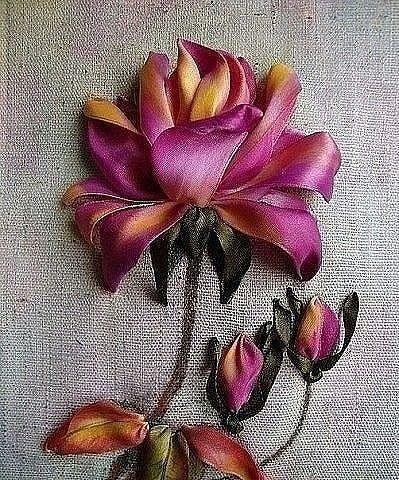 Роза красотка из шелка - подборка фото (19)