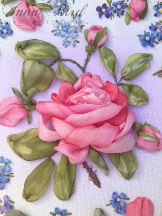 Роза красотка из шелка - подборка фото (2)