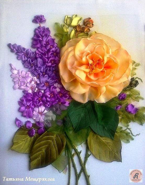 Роза красотка из шелка - подборка фото (20)
