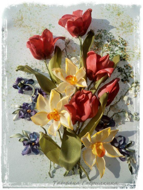 Роза красотка из шелка - подборка фото (22)