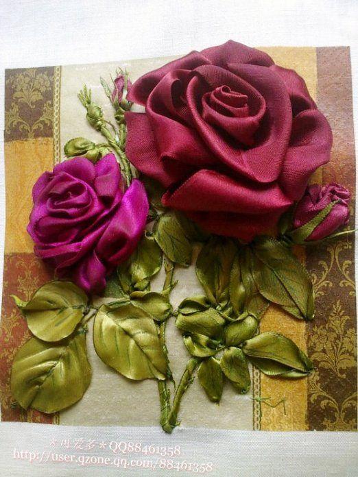 Роза красотка из шелка - подборка фото (24)