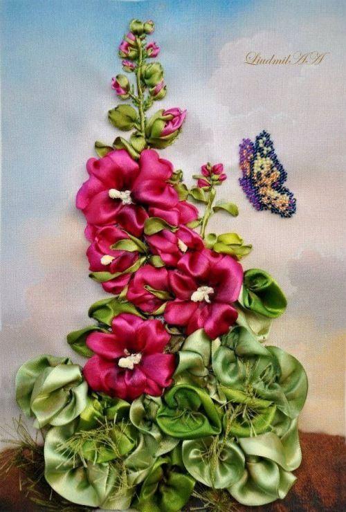 Роза красотка из шелка - подборка фото (25)