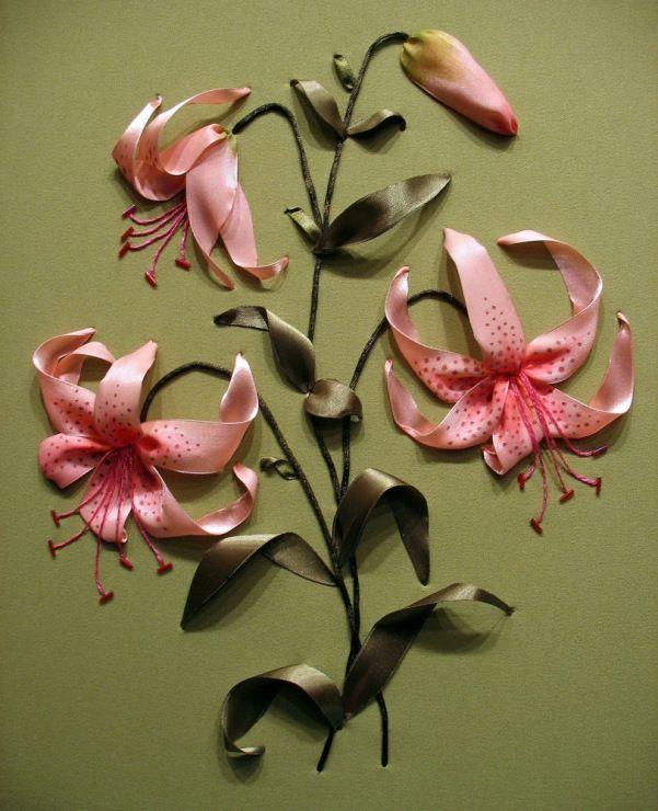 Роза красотка из шелка - подборка фото (26)
