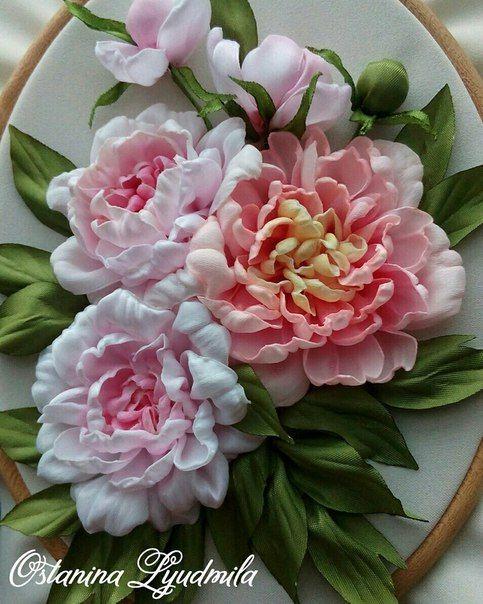 Роза красотка из шелка - подборка фото (3)