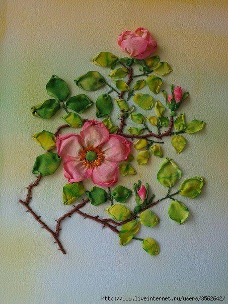 Роза красотка из шелка - подборка фото (5)