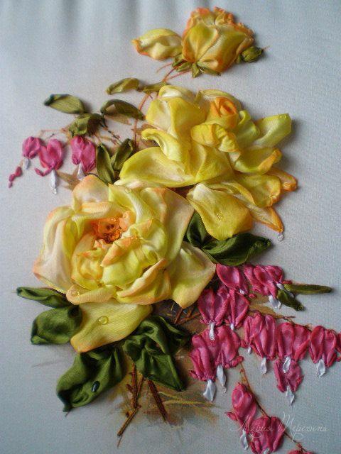Роза красотка из шелка - подборка фото (9)