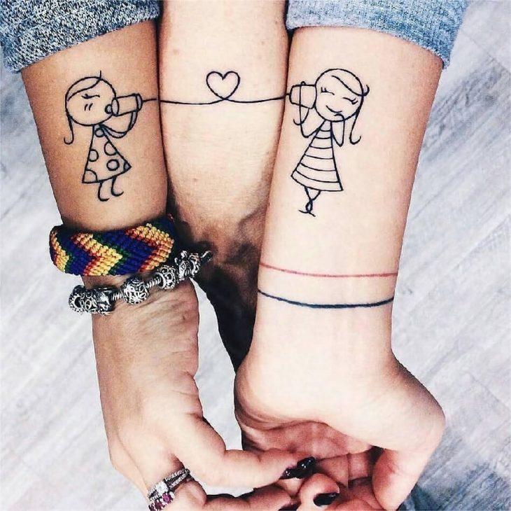 Совместные татуировки для друзей - подборка фото (3)