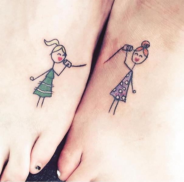Совместные татуировки для друзей - подборка фото (7)