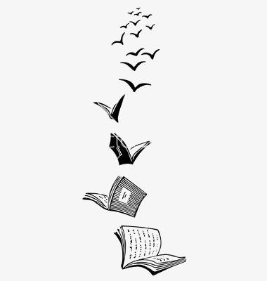 Стопка книг черно-белые картинки (1)