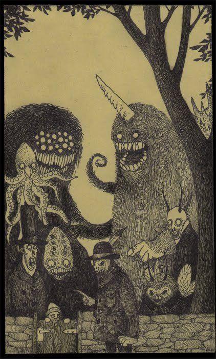Страшные рисунки карандашом - подборка (12)