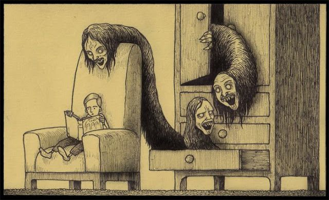 Страшные рисунки карандашом - подборка (16)