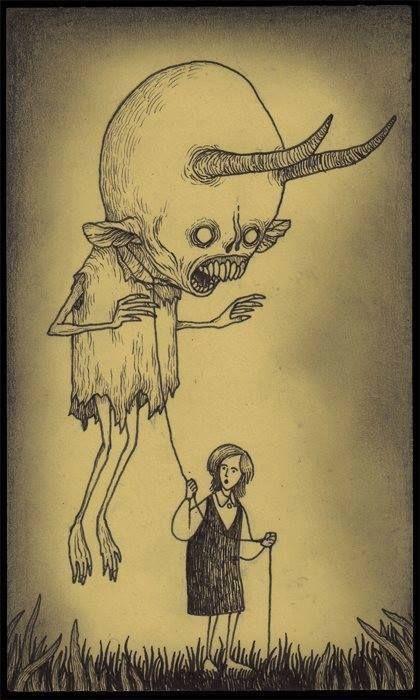 Страшные рисунки карандашом - подборка (17)