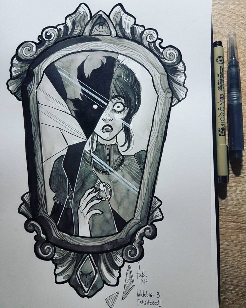 Страшные рисунки карандашом - подборка (24)
