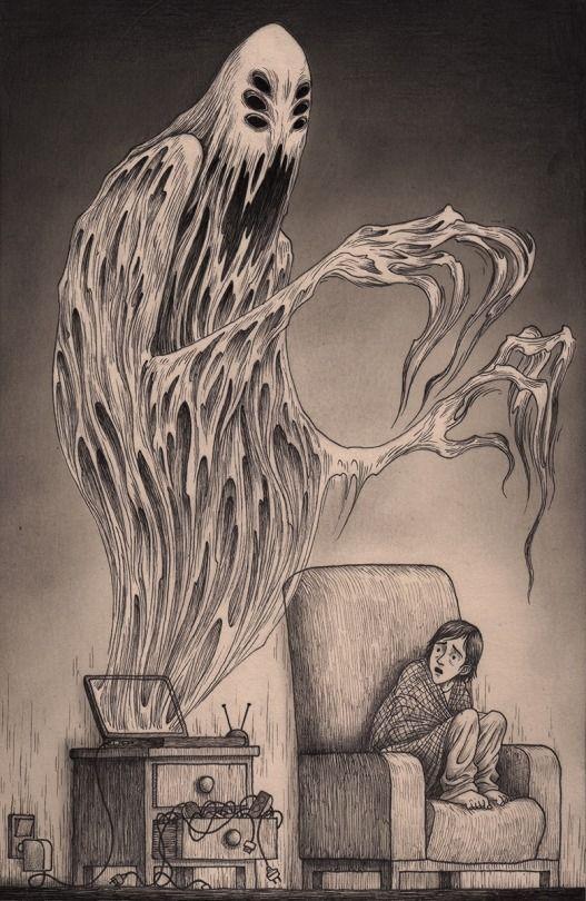 Страшные рисунки карандашом - подборка (9)
