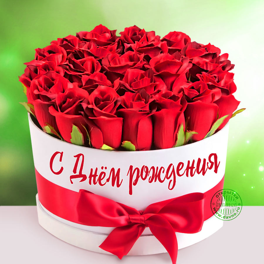 С днем рождения картинки розы красивые для девушки (14)