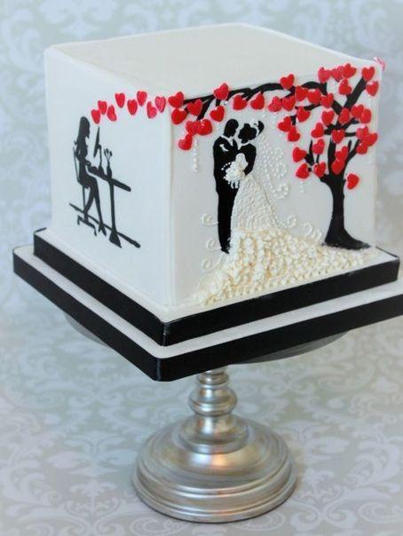 Торты на годовщину свадьбы - красивые и прикольные фото (10)