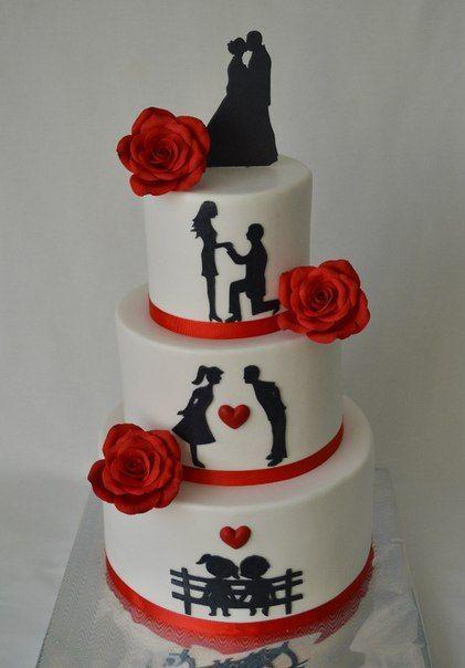 Торты на годовщину свадьбы - красивые и прикольные фото (14)