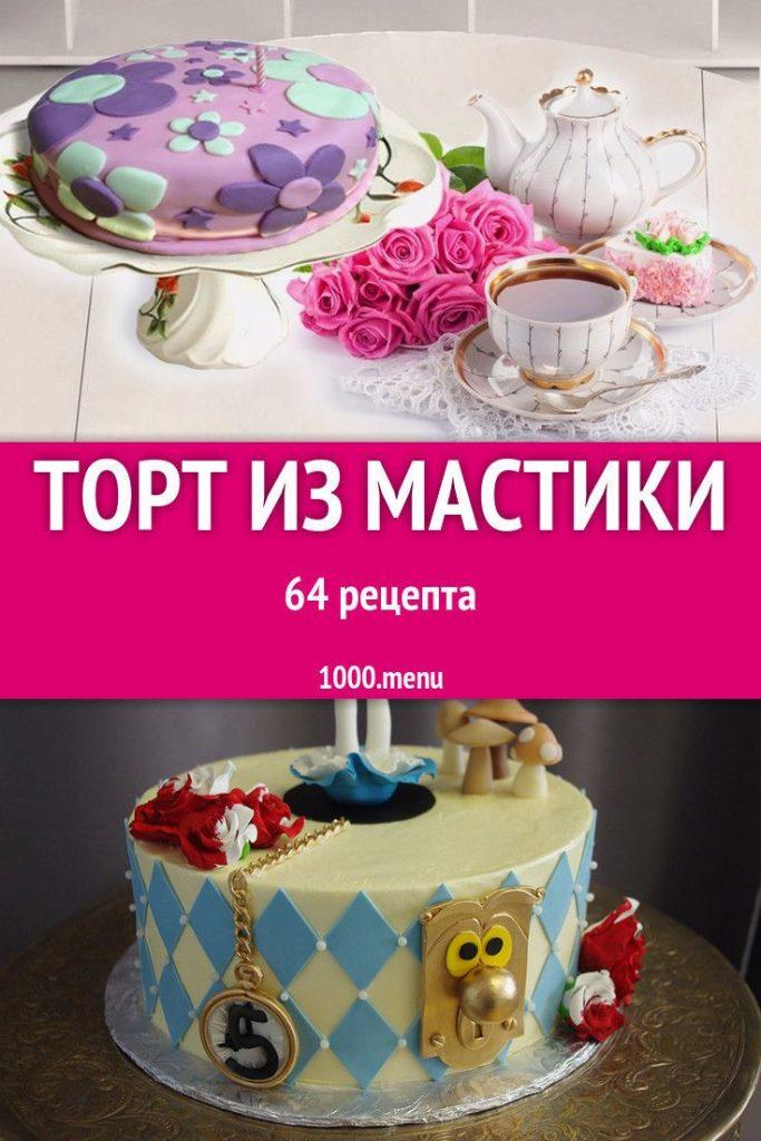 Торт на день рождения для подруги из мастики - фото (1)