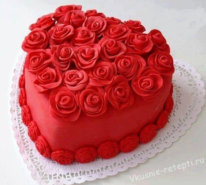 Торт на день рождения для подруги из мастики - фото (10)