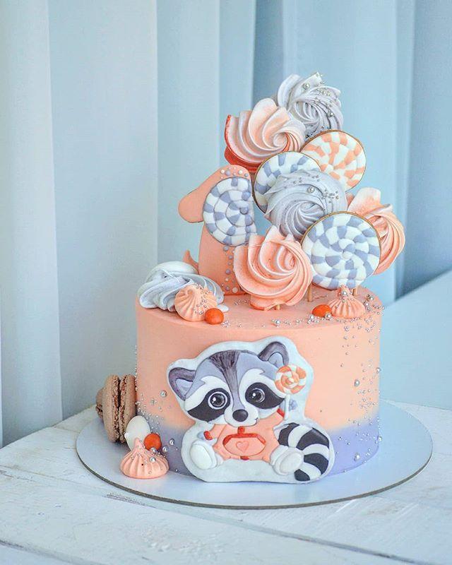 Торт на день рождения для подруги из мастики - фото (11)