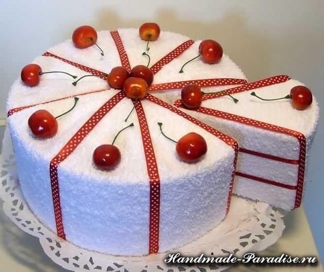 Торт на день рождения для подруги из мастики - фото (12)
