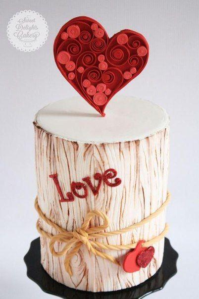 Торт на день рождения для подруги из мастики - фото (14)