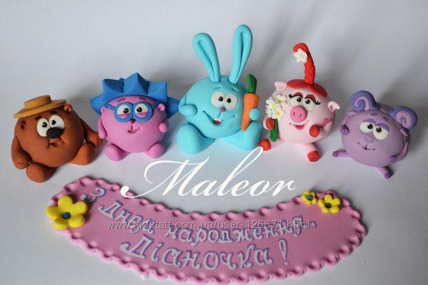 Торт на день рождения для подруги из мастики - фото (16)