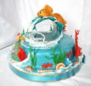 Торт на день рождения для подруги из мастики - фото (21)