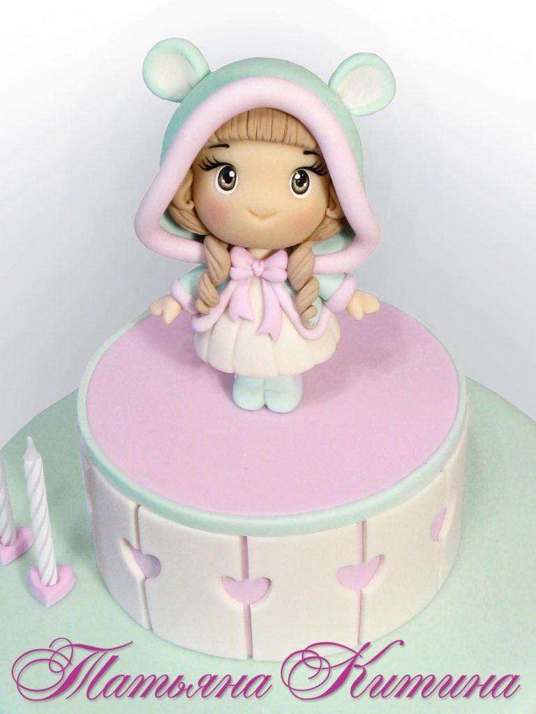 Торт на день рождения для подруги из мастики - фото (23)