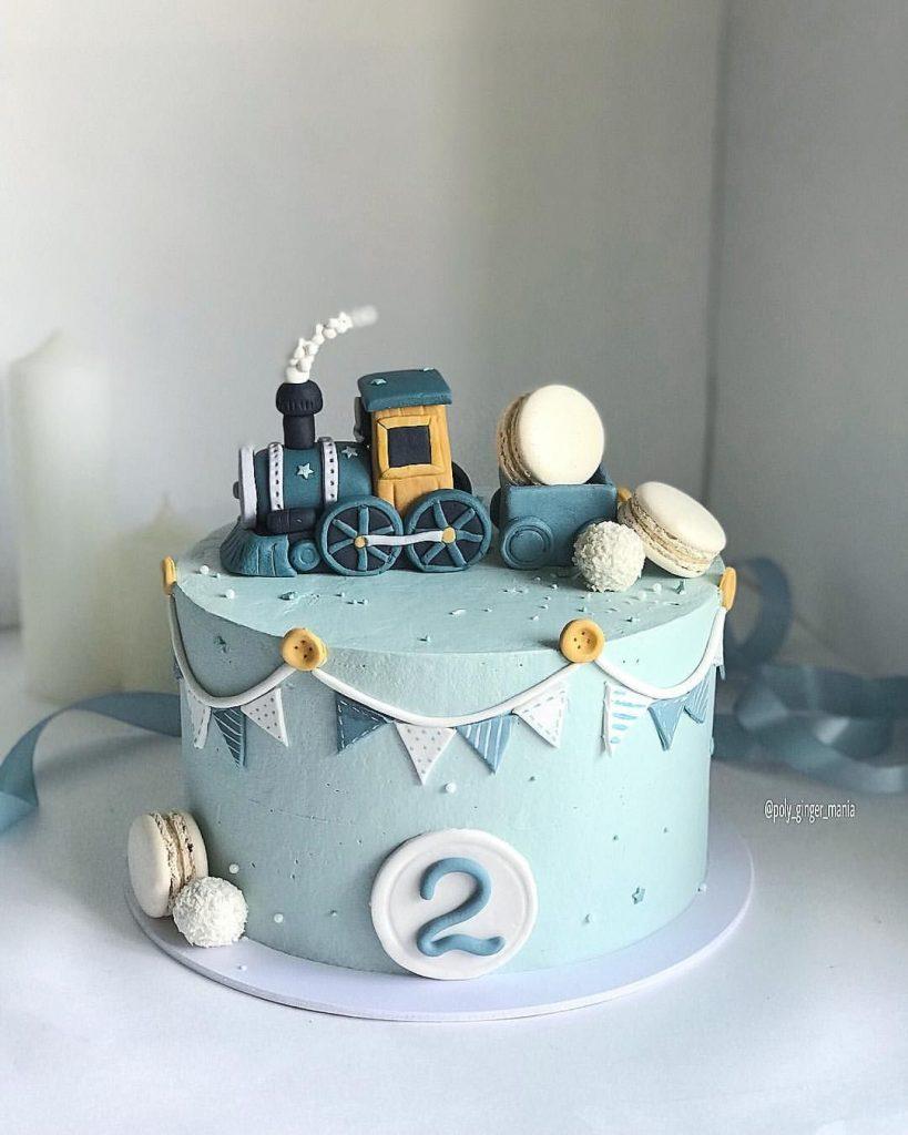 Торт на день рождения для подруги из мастики - фото (3)