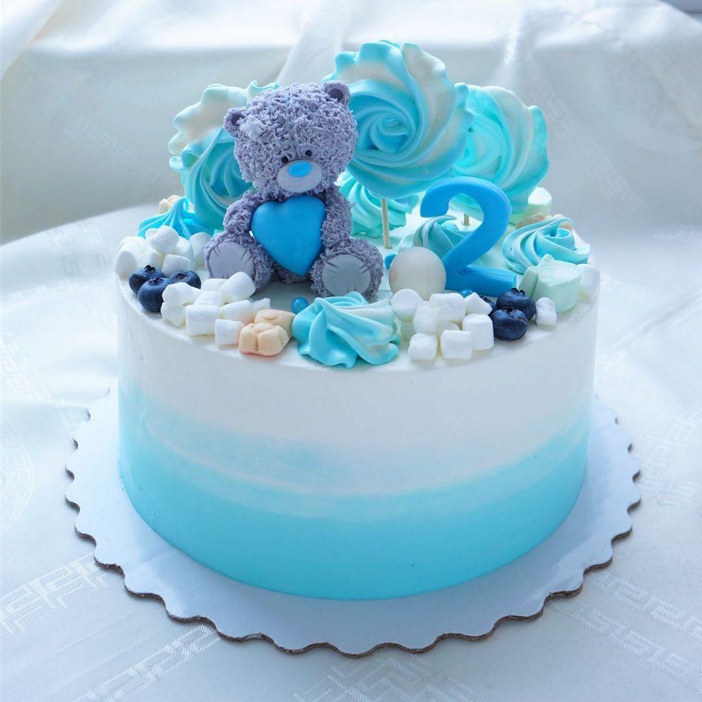 Торт на день рождения для подруги из мастики - фото (4)