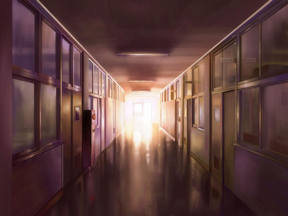 Фон аниме школьный коридор - картинки (1)