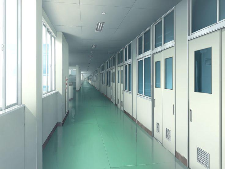 Фон аниме школьный коридор - картинки (10)