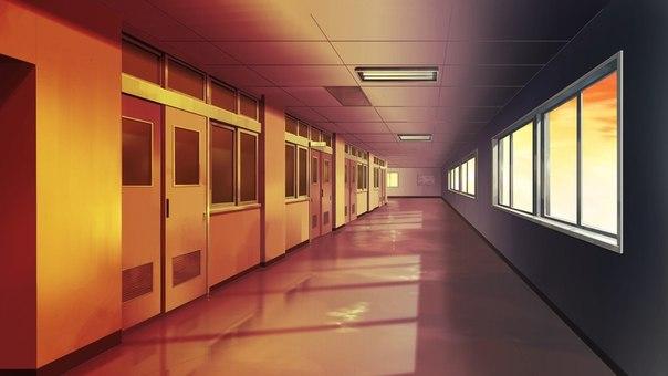 Фон аниме школьный коридор - картинки (16)