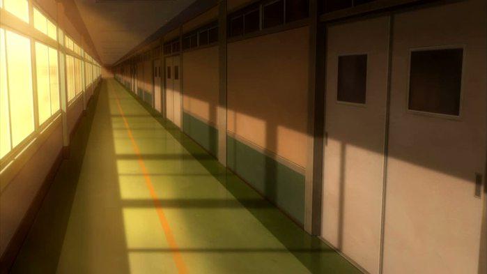 Фон аниме школьный коридор - картинки (18)