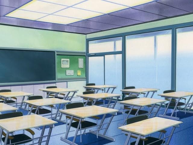 Фон аниме школьный коридор - картинки (2)