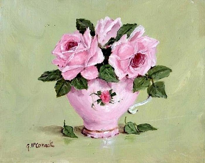 Чашка чая акварель картинки (13)