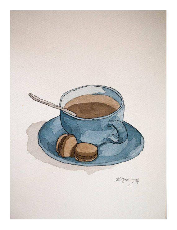 Чашка чая акварель картинки (16)