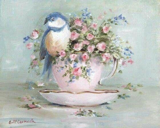 Чашка чая акварель картинки (18)