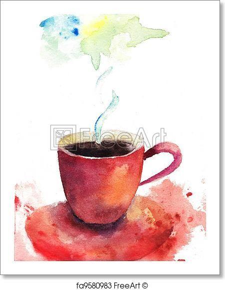 Чашка чая акварель картинки (20)
