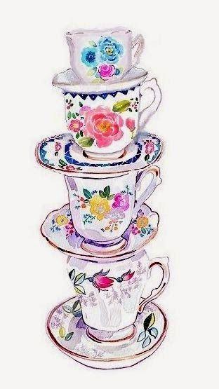 Чашка чая акварель картинки (22)
