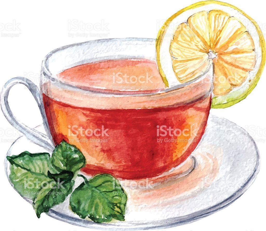 Чашка чая акварель картинки (4)