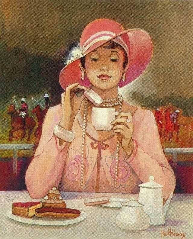 Чашка чая акварель картинки (9)