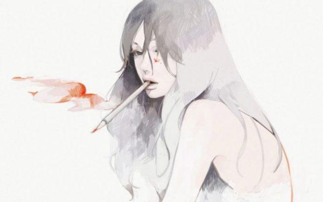 Аниме картинки для срисовки грустные (19)