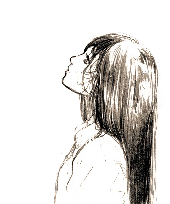 Аниме картинки для срисовки грустные (21)