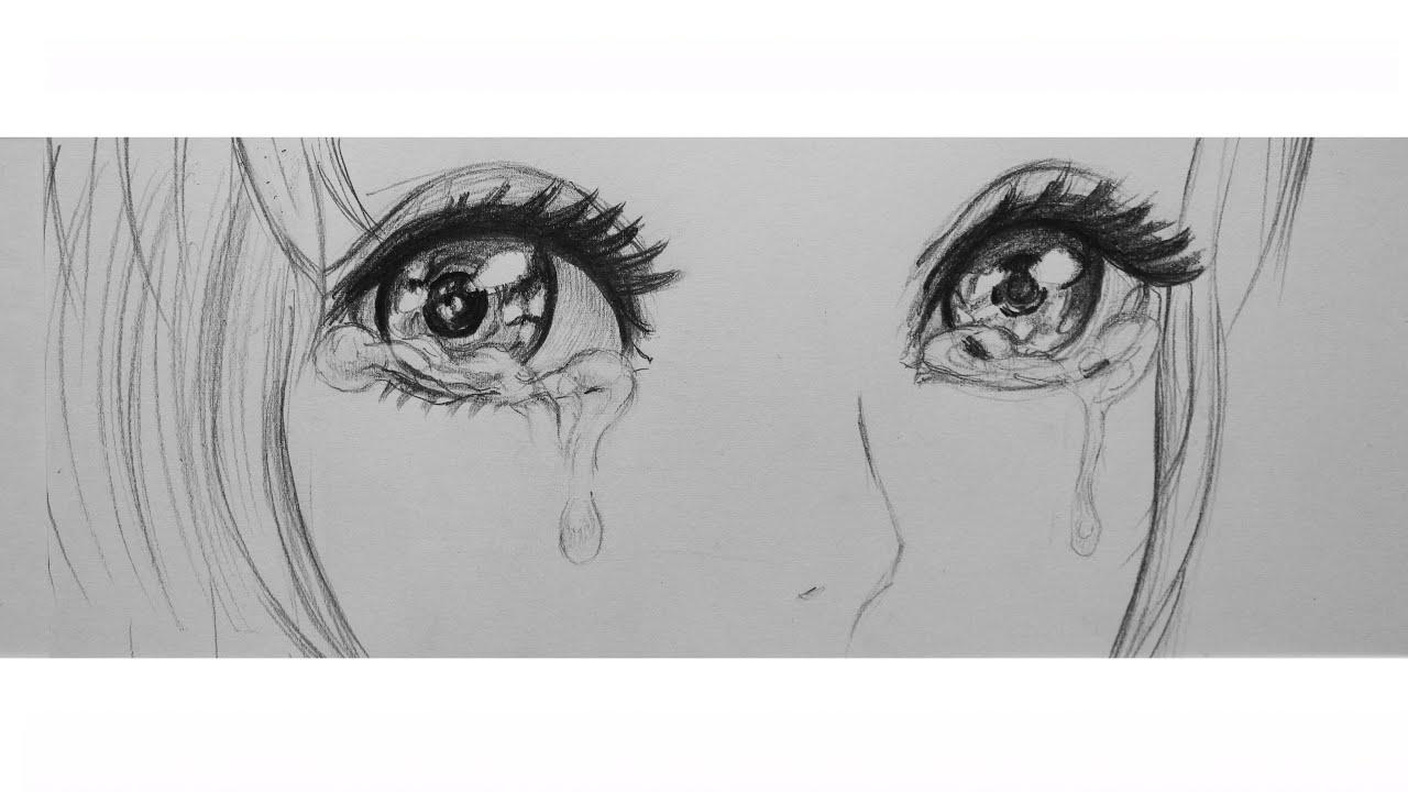 Аниме картинки для срисовки грустные (28)