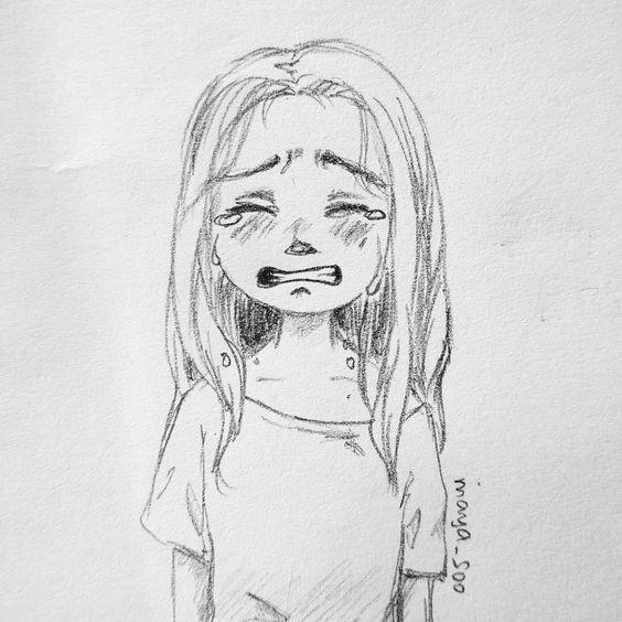 Аниме картинки для срисовки грустные (29)