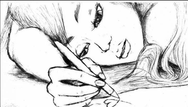 Аниме картинки для срисовки грустные (4)