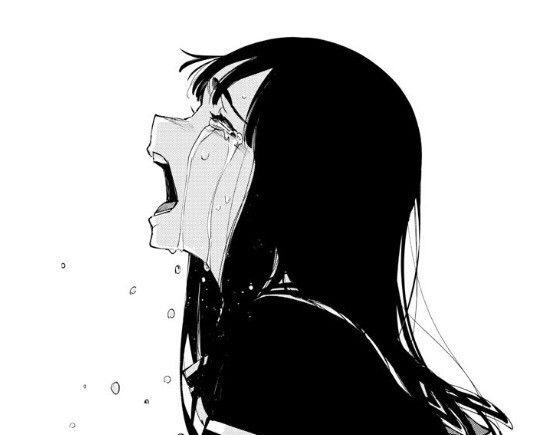 Аниме картинки для срисовки грустные (5)